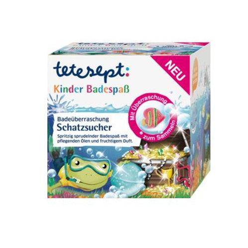 Tetesept Badezusatz Schatzsucher Sprudel-Badekugel Abenteuer mit Überraschung