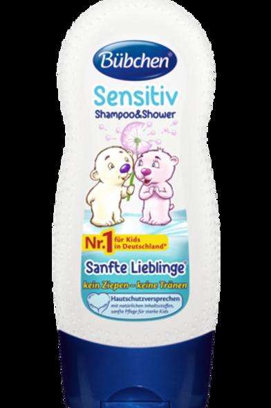 Bübchen Kids Shampoo & Shower Sensitiv Sanfte Lieblinge, 230 ml