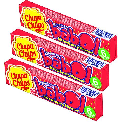Chupa Chups Big babol Strawberry 3Pack