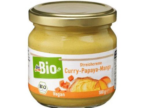 dmBio Aufstrich, Streichcreme Curry-Papaya-Mango, 180 g Glutenfrei
