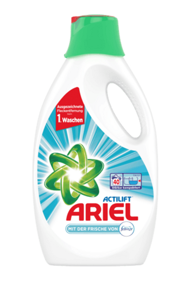 Ariel Vollwaschmittel Flüssig mit Febrezeduft, 22 Wl