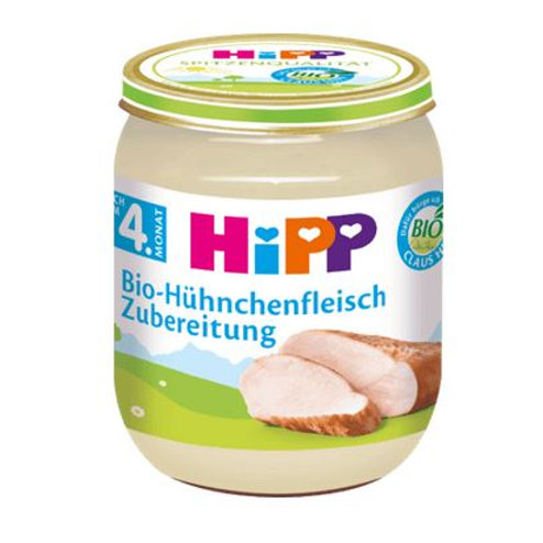 Hipp preparation of organic chicken after the 4th month, 125 g