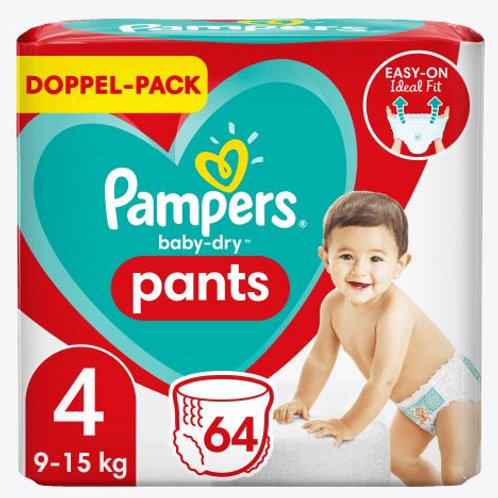 Pampers PANTS Baby-Dry Nappy 4 Doppel Pack mit 64St. Inhalt
