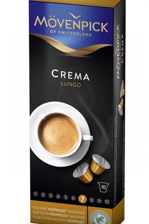 Nespresso® Kompatible Kapsel von Mövenpick Crema Lungo Kaffeekapseln