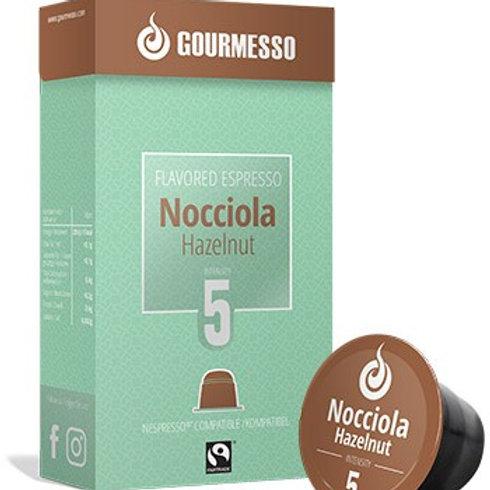 Nespresso® kompatibleKapsel von GOURMESSO FLAVORED ESPRESSO NOCCIOLA Kaffeekapse