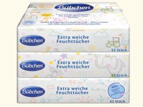 Bübchen Baby Extra Weiche Pflegetücher  3x52St