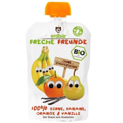 erdbär Freche Freunde Quetschbeutel 100% Birne, Banane, Orange & Vanille ab 1 Ja