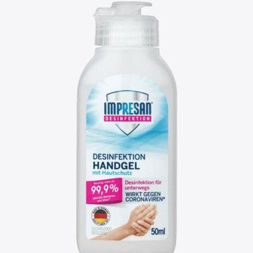 Impresan Hand-Desinfektions-Gel 99.9%, 50 ml (Ideal für unterwegs)
