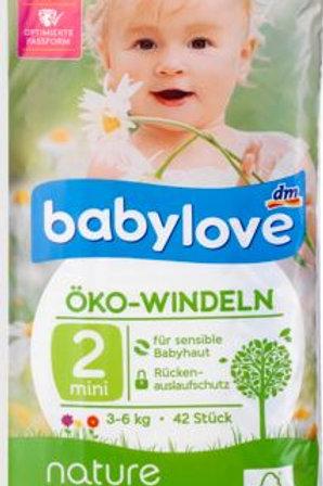 Babylove Öko-Windeln Nummer 2 für sensible Haut 3-6 Kg 28 Stk.