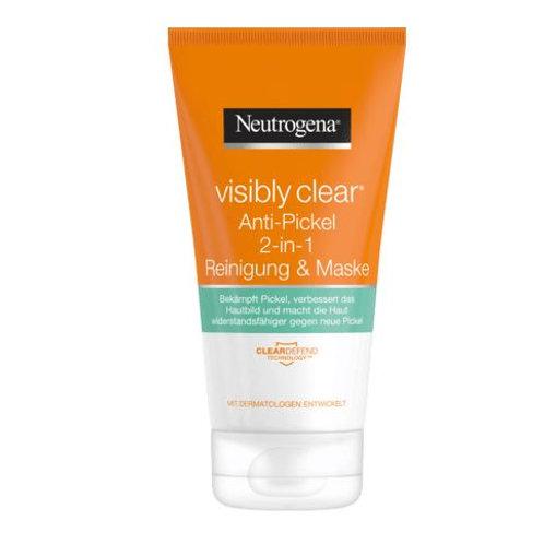 Neutrogena Reinigungsmaske Visibly Clear Anti Pickel 2 in 1, 150 ml