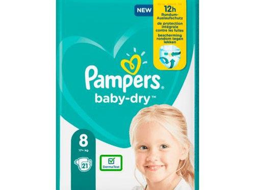Winden Pampers Baby Dry, Grösse 8 Extra Large, 17+kg, Einzelpack, 21 St