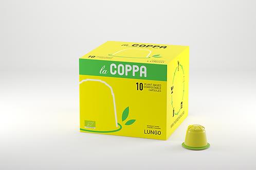 NESPRESSO® Kompatible Kapsel la COPPA LUNGO  (Kompostierbar)