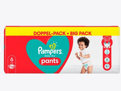 Pampers Baby-Dry Nappy Pants 6 Doppel- Pack mit 48St. Inhalt