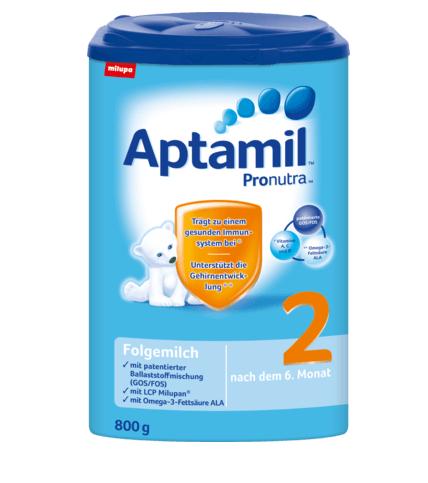 Aptamil Anfangsmilch Pronutra 2 ab dem 10. Monat 800g   DM ...