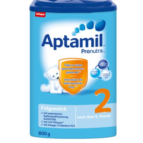 Aptamil Folgemilch Pronutra 2 ab dem 10. Monat 800g