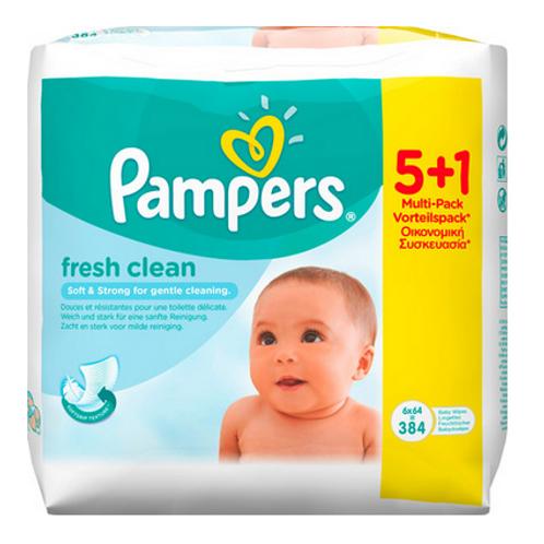 Pampers Fresh Clean Feuchttücher (6-er Pack)