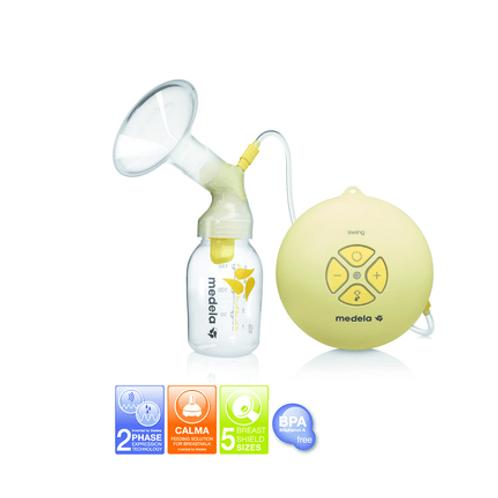 Medela Milchpumpe Swing, elektrisch, inklusive Muttermilchsauger Calma, 1