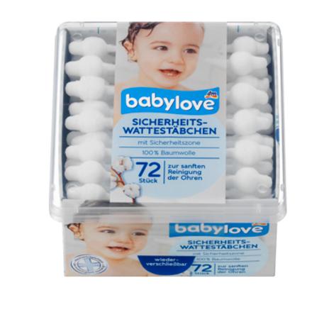 Babylove Sicherheits-Wattestäbchen, 72 St