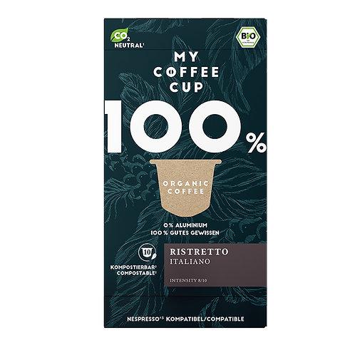 Nespresso® kompatible Kaffeekapseln MY-Coffeecup RISTRETTO ITALIANO