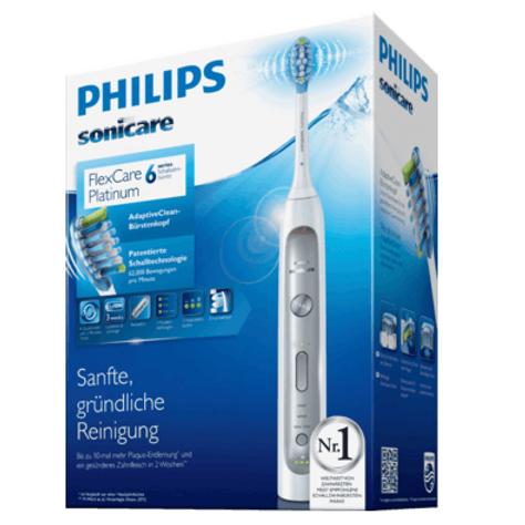 Philips Schallzahnbürste FlexCare Platinum + Reiseetui
