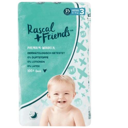 Rascal + Friends diapers size 3, 6-11 kg, 35 pcs