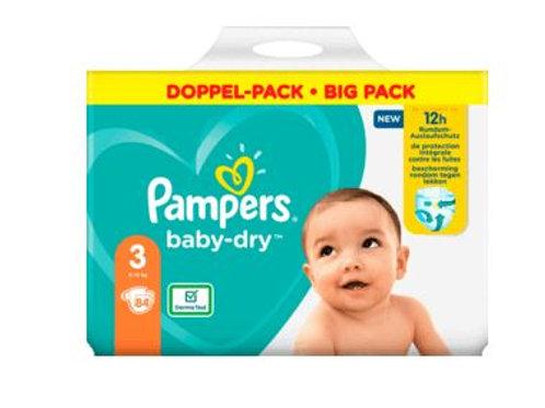 Windeln Pampers Baby Dry, Grösse 3 Midi, 6-10kg, Doppelpack, 84 St
