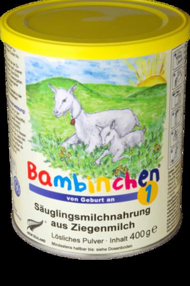 Bambinchen Anfangsmilch 1 aus Ziegenmilch von Geburt an, 0,4 kg