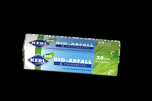 KERL Biofolien Müllbeutel 25l/5Stück