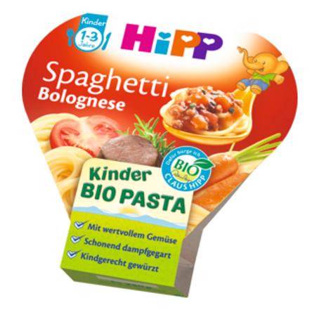 Hipp Bio Kinderteller Kinder Bio Pasta Spaghetti Bolognese ab 1 Jahr, 250