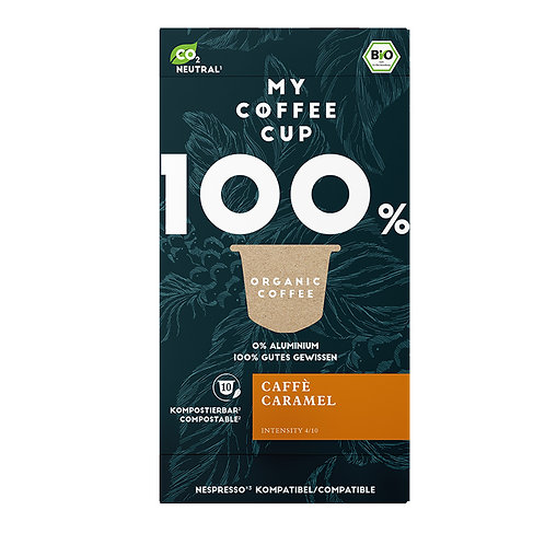 Nespresso® kompatible Kaffeekapseln MY-Coffeecup Cafe Caramel