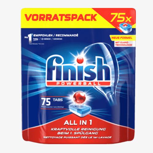 finish Powerball Spülmaschinen-Tabs All in 1 Vorratspack, 75 St