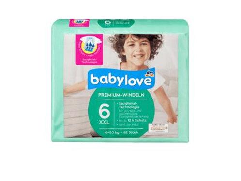 Babylove Aktiv Plus Premium-Windeln Gr. 6 XXL 16-30 Kg 32 Stk.