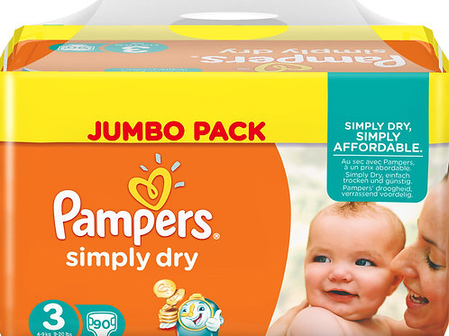 Pampers Simply Dry 3 Midi