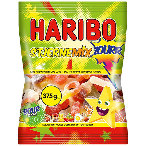 HARIBO Stjerne Mix Zourr, Beutel 375g