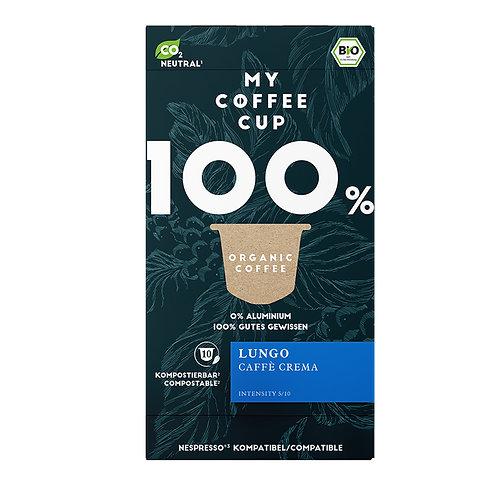 Nespresso® kompatible Kaffeekapseln MY-Coffeecup LUNGO CAFFÈ CREMA