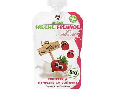 erdbär Freche Freunde Quetschbeutel Erdbeere & Himbeere im Joghurt ab 1 J.