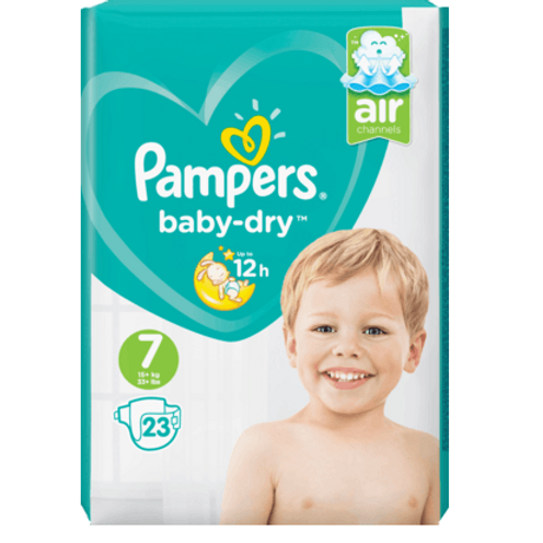 Pampers Baby Dry 7 mit 23St. Inhalt