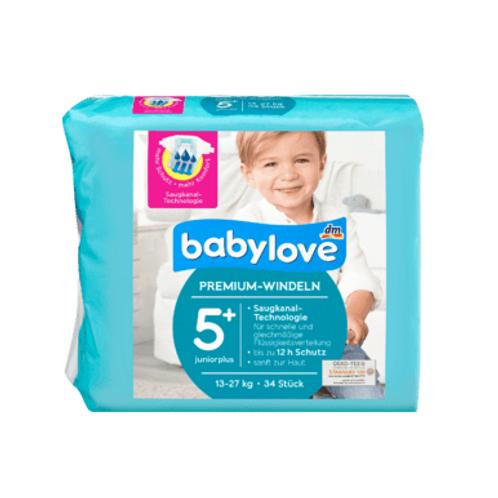 Babylove Premium-Windeln Gr. 5+ Juniorplus 11-18 kg, 34 St