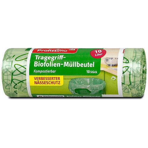 Profissimo Biofolien Kompostbeutel mit Tragegriffen 10lt/10St.