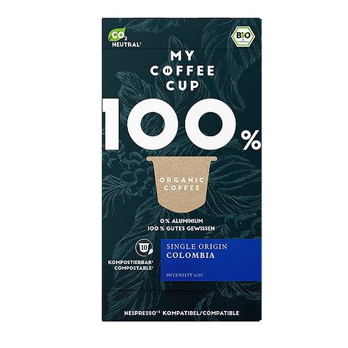 Nespresso® kompatible Kaffeekapseln MY-Coffeecup COLOMBIA CAFFÈ