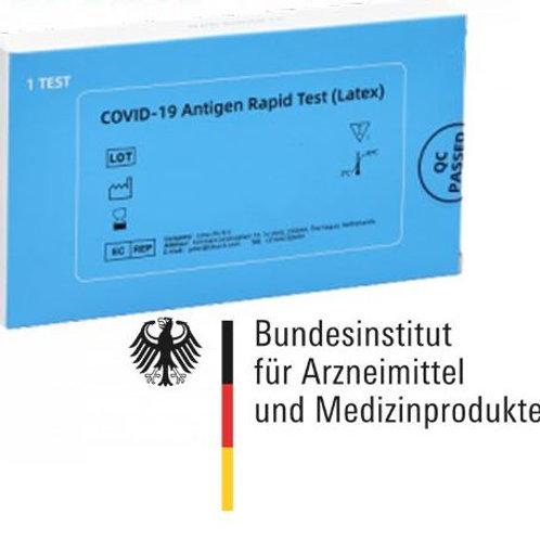 COVID-19 Antigen Rapid Test (Latex) Spucktest 1Stück