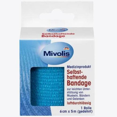 Mivolis Selbsthaftende Bandage, 6 cm x 5 m (gedehnt), 1 Rolle, 5 m