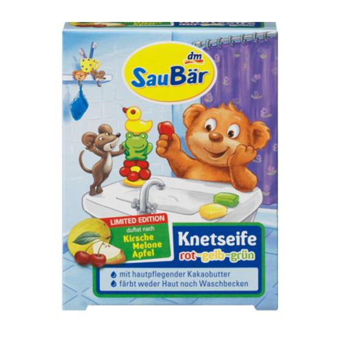Saubär Knetseife Türkis-Gelb-Grün (3 St. Inhalt)