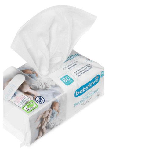 Babylove Feuchttücher Sensitive 4 Pack a 80 Tücher