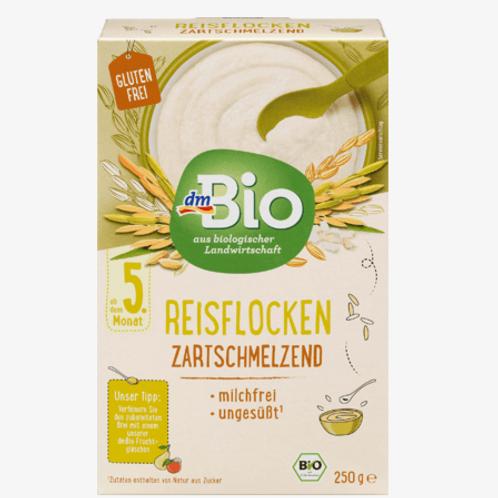 DM Bio Getreidebrei Reisflocken zartschmelzend ab dem 5. Monat, 250 g
