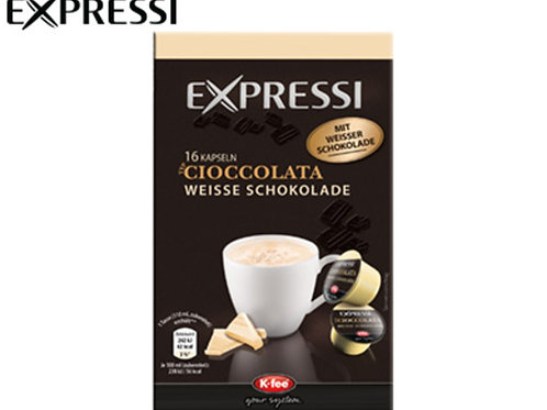K-Fee Kapsel Expressi CIOCCOLATA weiss Limited Edition