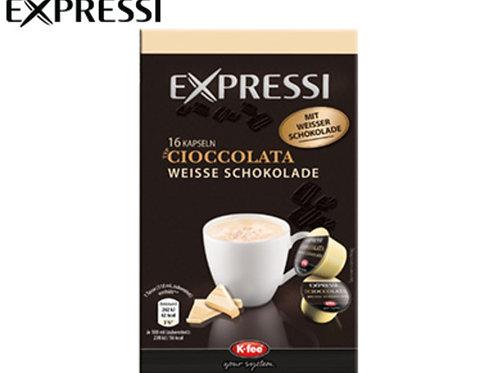 K-Fee Kapsel Expressi CIOCCOLATA weiss Limited Edition