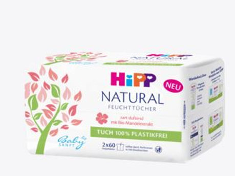 Hipp baby soft wet wipes NATURAL delicately scented, 120 pcs