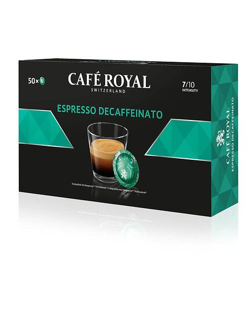 Nespresso®professional kompatible Pads von Café Royal Espresso Decaffeinato (50