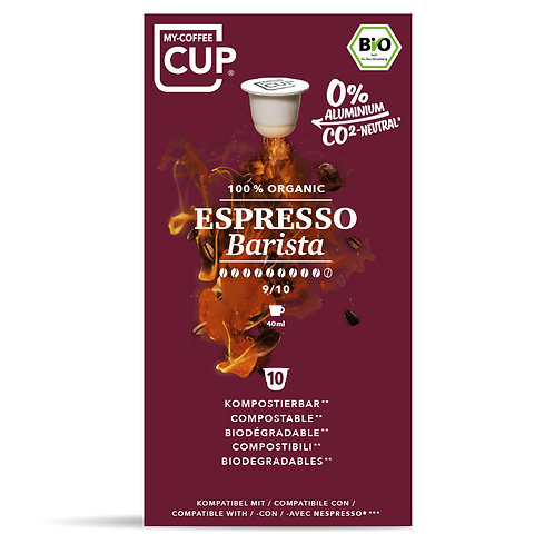 Nespresso® kompatible Kaffeekapseln MY-Coffeecup Espresso Barista
